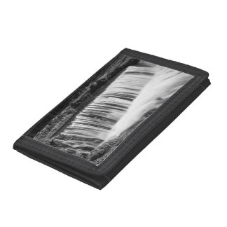 Spring Falls At Hodgson Grayscale Trifold Wallets