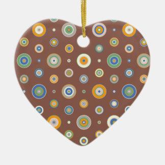 Spring Fashion 2011: Candy Circles Ceramic Heart Decoration