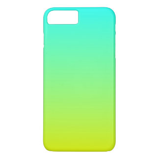 spring fashion lime green lemon yellow ombre iPhone 7 plus case