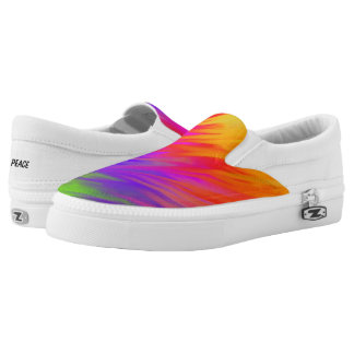 Spring Feathers Slip On Canvas Shoes