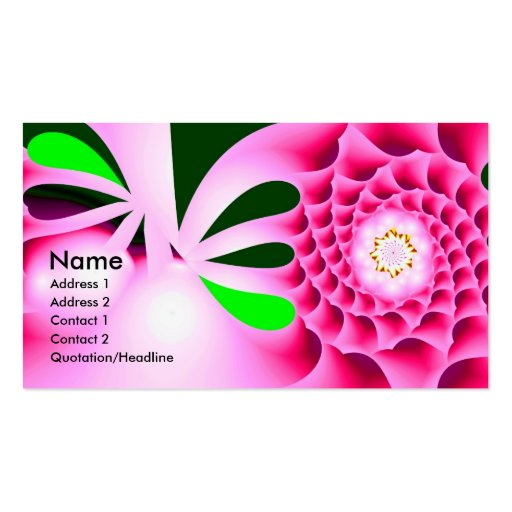 Spring Fever Colorful Abstract Business Card