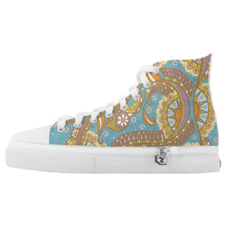 Spring Fling High Tops Printed Shoes