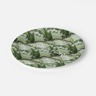 SPRING FLING LILY OF THE VALLEY PAPER PLATE
