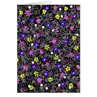 Spring Floral Art Card