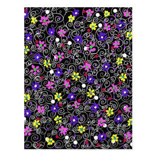 Spring Floral Art Postcard