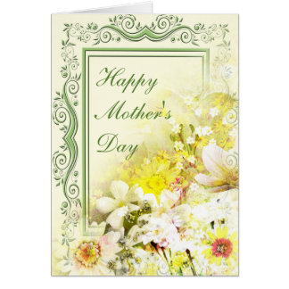 Spring Floral Bouquet Mother's Day Greeting Card