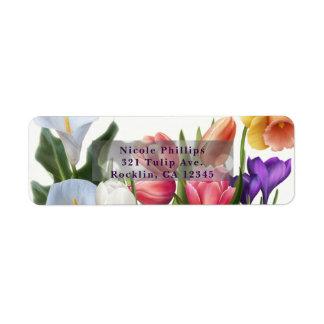 Spring Floral Easter Egg Bridal Shower Invitation Return Address Label
