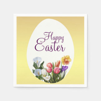 Spring Floral Easter Springtime Flowers Elegant Disposable Serviette