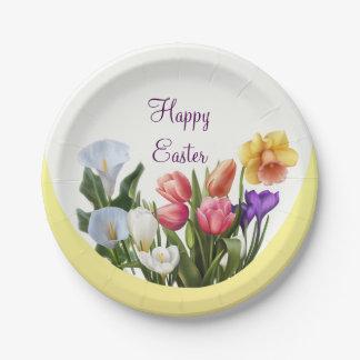 Spring Floral Easter Springtime Flowers Elegant Paper Plate