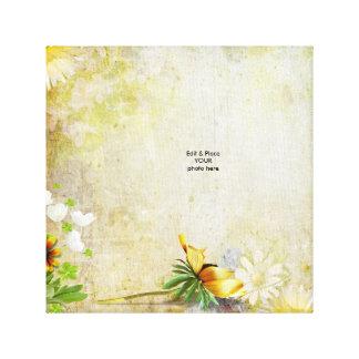 Spring Floral Grunge Canvas Canvas Print