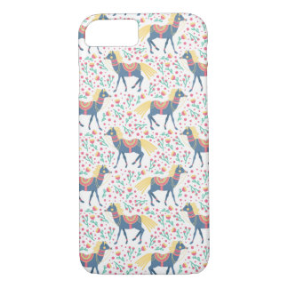 Spring Floral Horses Vector Seamless Pattern iPhone 8/7 Case