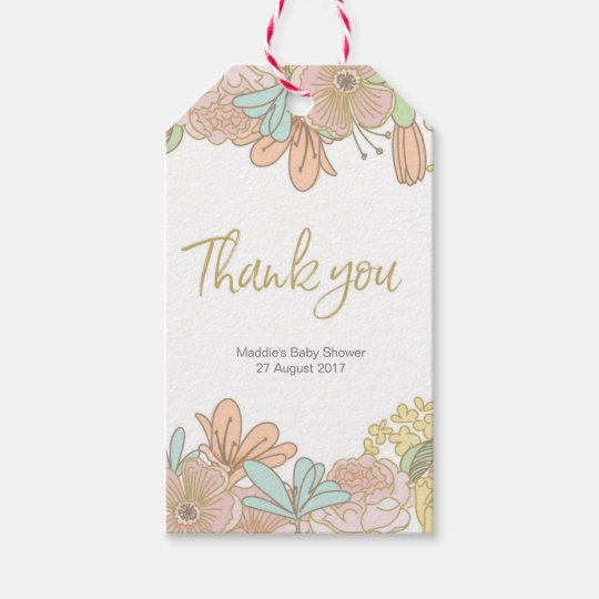 Spring floral thank you tags | favour tags