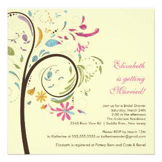 Spring Floral Tree Bridal Shower Invitation