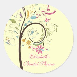 Spring Floral Tree Bridal Shower Sticker