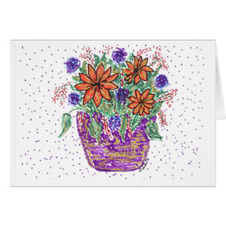 Spring Flower Basket Card