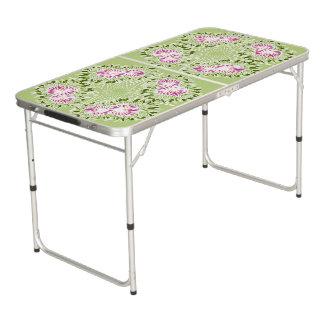 Spring flower beer pong table