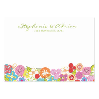 Spring Flower Engagement Thank You Gift Cards Business Card