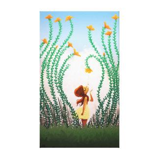 "Spring Flower Girl Art ""Tupelo Honey"" Stretched Canvas Prints"
