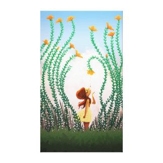 "Spring Flower Girl Art ""Tupelo Honey"" Ex Large Gallery Wrap Canvas"