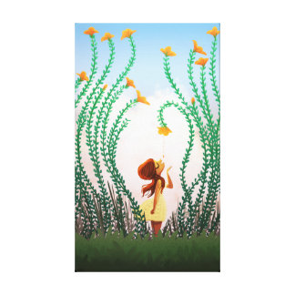 "Spring Flower Girl Art ""Tupelo Honey"" Medium Stretched Canvas Prints"
