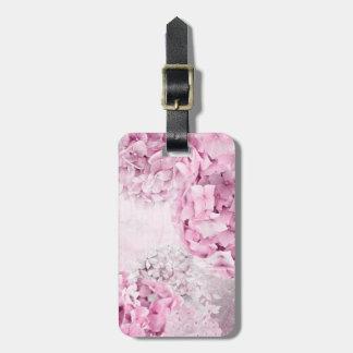 Spring Flower Hydrangea Pastel Collage Luggage Tag