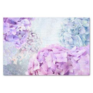 Spring Flower Hydrangea Pastel Collage Tissue Paper