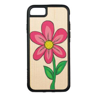 Spring Flower Illustration Carved iPhone 7 Case
