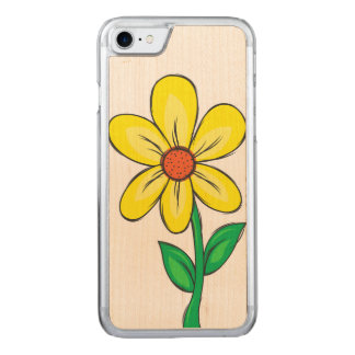 Spring Flower Illustration Carved iPhone 8/7 Case