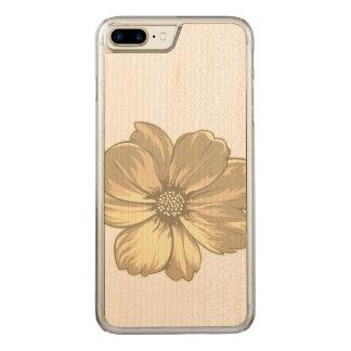 Spring Flower Illustration Carved iPhone 8 Plus/7 Plus Case