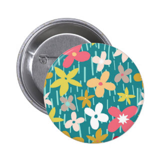 spring flower meadow 6 cm round badge