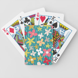 spring flower meadow bicycle playing cards