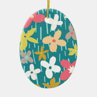 spring flower meadow ceramic ornament
