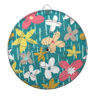 spring flower meadow dartboard