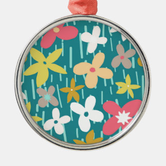 spring flower meadow metal ornament