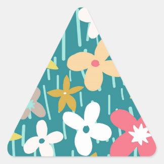 spring flower meadow triangle sticker