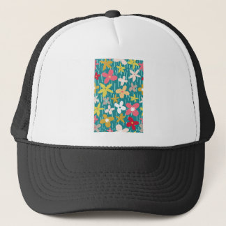 spring flower meadow trucker hat