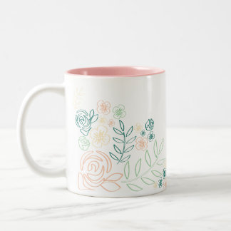 Spring Flower Outline Mug