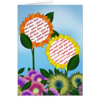 Spring Flower  Photo Frame Card