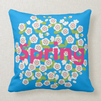 Spring Flower Throw Cushion