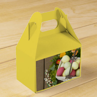 Spring Flowers and Basket of Easter Eggs Favour Box