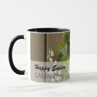 Spring Flowers and Basket of Easter Eggs Mug