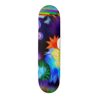 Spring Flowers and Butterflies. Skate Boards