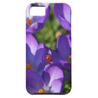 Spring flowers and ladybug tough iPhone 5 case