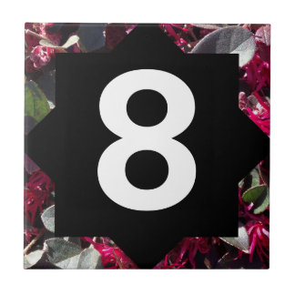 Spring Flowers and Star Number Small Square Tile