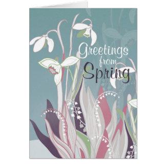 Spring flowers art English Card