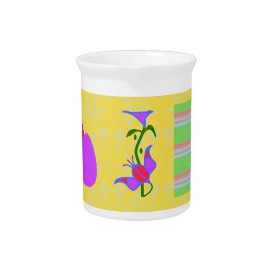 Spring Flowers Beverage Pitchers