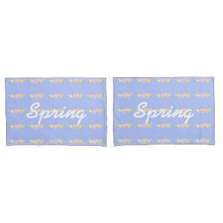 Spring flowers bouquet pillowcases