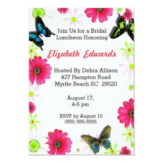 "Spring Flowers Bridal Luncheon Invitation 5"" X 7"" Invitation Card"