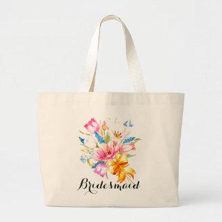 Spring Flowers Bridesmaid Gear Bag