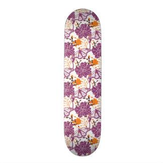 Spring Flowers & Butterfly Skate Board Deck